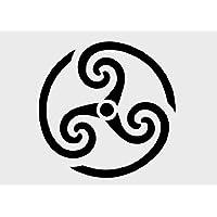 Keltische Spirale (A4) Airbrush, Wand-Kunst, aus Mylar, Schablone, wiederverwendbar, 125µm