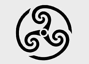 Spirale celtique (A4), aérographe Wall Art Peinture véritable Pochoir réutilisable en Mylar de 125 microns