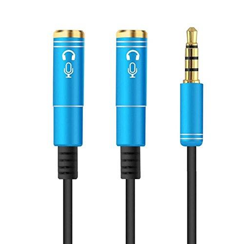 ULTRICS® 3.5mm Y Audio Splitter Cable, 4 Pole Divisor de Ear Headphone...