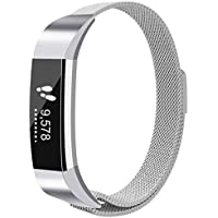 Beikell Fitbit Alta Strap and Alta HR Bands, Fitbit Alta/Alta HR Bands Replacement Strap - Milanese Loop Stainless Steel Adjustable Bracelet with Unique Magnetic Lock for Fitbit Alat and Alata HR