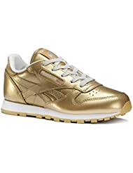 Reebok Classic Leather Metallic, Chaussures de running entrainement fille