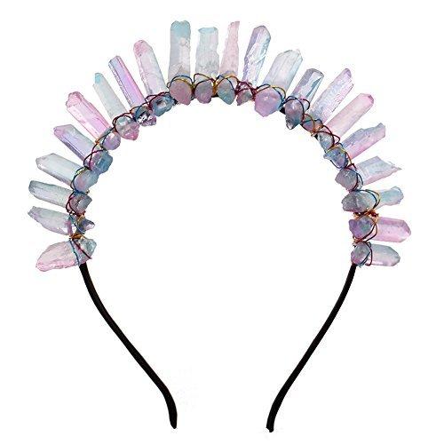 GRACEART Kristall Quarz Tiara Meerjungfrau Krone Stirnband (Regenbogen)