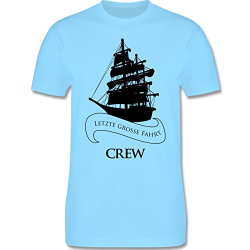 JGA Junggesellenabschied - Crew Letzte große Fahrt - Herren Premium T-Shirt Hellblau