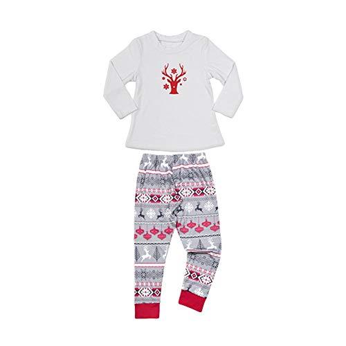 SEGRJ Kinder Schlafanzug-Set mit weihnachtlichem Hirschmuster, für Zuhause, Herbst, T-Shirt, Hose, Nachtwäsche, Polyester, Kid-XS (Set Herren-xs-pyjama)