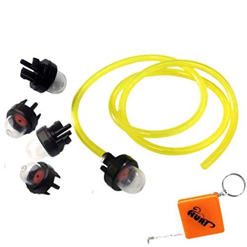 HURI 5x Vorpumpball Ballpumpe Pump Birnen Pumpe Für Verschiedene Kettensäge Trimmer Motorsensen Vergaser mit Benzinschlauch