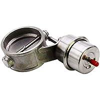 perfk Coche Boost Activado Escape Recorte 63 mm 2.5 Pulgadas Cerrado