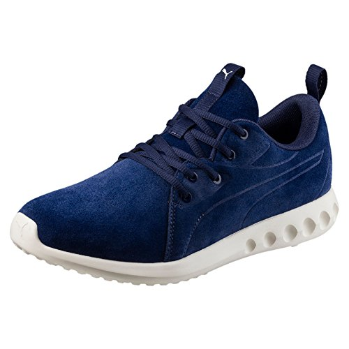 Puma Carson 2 Molded Suede, Chaussures Multisport Outdoor Mixte Adulte Blue Depths-Whisper White