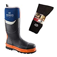 mad4tools Buckler BBZ6000 Waterproof Safety Wellington Boots & Boot Socks