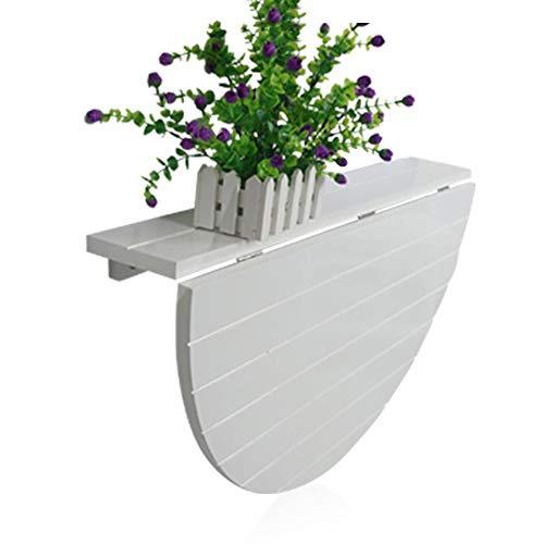 PENGFEI Tische Wandtisch Wand-Klapptisch Multifunktion Garten-Freizeittisch Esstisch Platz Sparen Massivholz, 2 Farben (Farbe : Weiß)