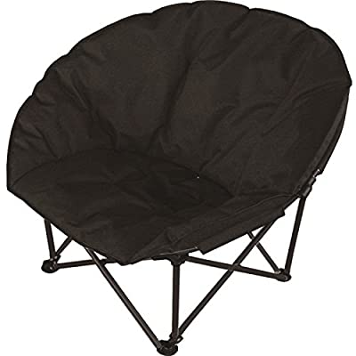 Deluxe Portable Black Padded Cushion Folding Outdoor Camping Travel Festival Beach Garden Fishing Moon Chair Foldable Seat - cheap UK light shop.