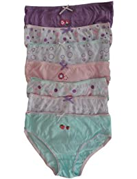 Girls Underwear - Patterned 100% Cotton Briefs in Gift Pack (Pack of 7)