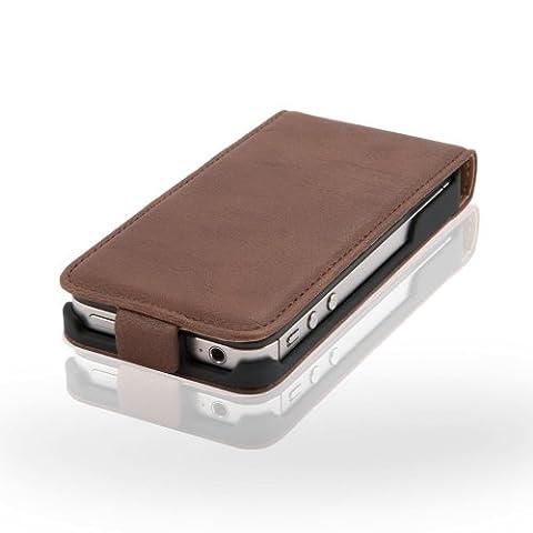 Coque Iphone 4 Cuir - Zaprado Etui en cuir pour iPhone 4