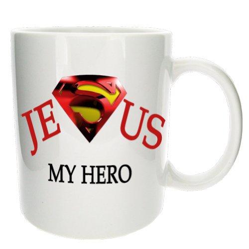 Jesus ist mein Held, lustige neue Kaffee,- Tee, - Geschenkstasse fürs Büro