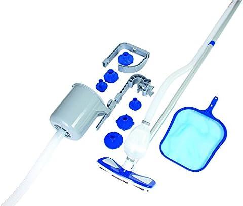 Bestway Deluxe Maintenance Kit Skimmer flottant + Système d'accroche Frame/Fast Set