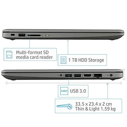 HP 14 Core i3 7th gen 14-inch Thin and Light Laptop (4GB/1TB HDD/Windows 10 Home/MS Office/Smoke Grey/1.59 kg), 14q-cs0014TU Image 6