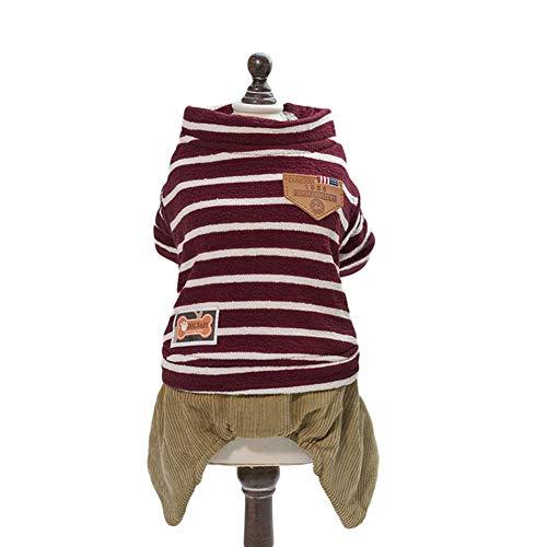 Homeyou Haustier Fleece Jacke Hund Baumwolle gepolsterter Mantel Haustier Pyjama Welpe weiche Pjs Kleidung für Hund Kostüm -