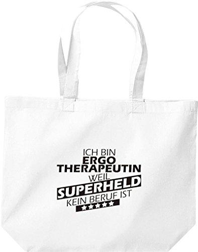 weiss bin Superheld ist weil Ergotherapeutin Shirtstown Beruf Einkaufstasche große Ich kein anwFvq