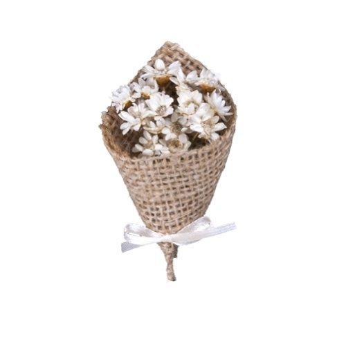 floristikvergleich.de Ansteckblumen für Bräutigam weiß