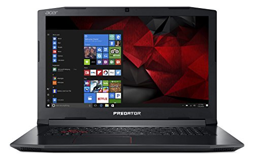 "Predator Helios 300 PH317-51-78GN Notebook Gaming con Processore Intel Core i7-7700HQ, Display 17.3"" IPS FHD, RAM 16 GB DDR4, 256 GB SSD, 1 TB HDD, NVIDIA GeForce GTX 1050Ti, Windows 10 Home,Nero"