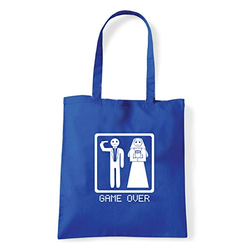 Art T-shirt, Borsa Shoulder game-over Blu