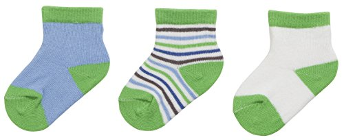 Playshoes Unisex Baby Socken Erstlingssocken, 3er Pack, 0-3 Monate, Grün (Original 900), One size (Herstellergröße: 0-3M)