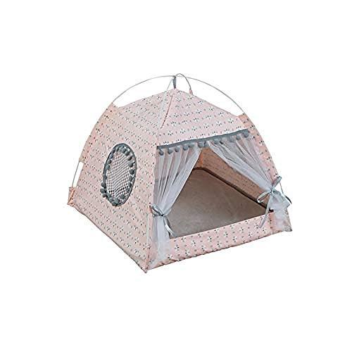 yhwygg Hundebett Atmungsaktives Campingzelt   Tierhandlung Komfortables Haus Kleines Mittleres Bett Hund Katze Haus Katze Kätzchen Katze Bett Tierheim Produkte @ Pink L