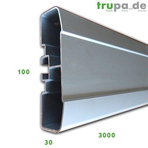 Preisvergleich Produktbild 3m Aluminium Profil Anfahrschutz Antirutsch 3000x100x28 mm LKW Anhänger A-Ware