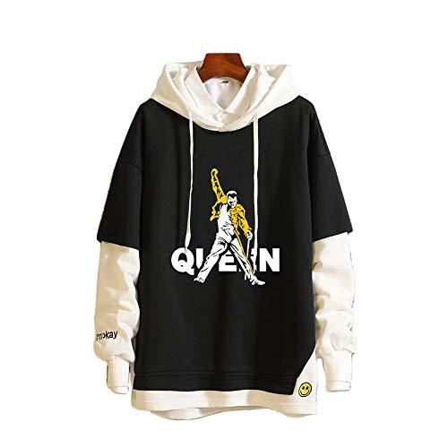 ULIIM King Queen Bedruckte Hoodies Lovers Couples Sweatshirt Mit Kapuze Beiläufige Pullover Trainingsanzüge Top