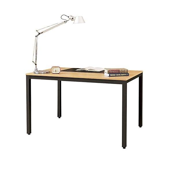 DlandHome Tavoli da Sala da Pranzo 138x55cm, Scrivania da Tavolo Robusta  Scrivania da Ufficio Scrivania per Sala riunioni Scrivania da Lavoro, Teak  & ...