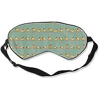 Preisvergleich für Natural Silk Eyes Mask Sleep Funny Pug Doing Yoga Blindfold Eyeshade with Adjustable for Travel,Nap,Meditation...