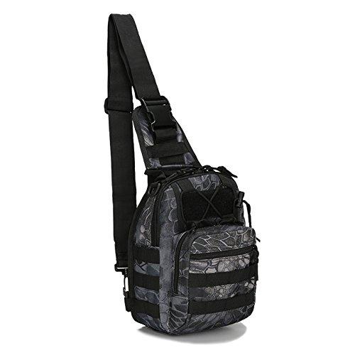Imagen de bolso de bandolera  sodial r bolso de bandolera de hombro de camping, bolso de bandolera tactico  de bicicletas de sola correa  de senderism piton negro