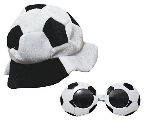 stüm Fußball Warm Hat Gläser Kinder Kleidung SET Gr. One size, weiß (Mädchen Fußball Halloween Kostüme)