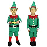 AsurOn Fancy Elf Dress Christmas Costume For Kids Age (2-10 Years) (8-9 Years)