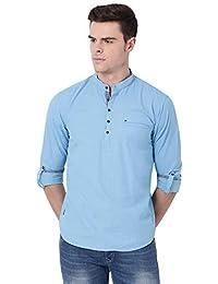 Pan America Men's Solid Cotton Kurta (9 Colors)