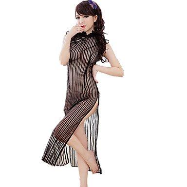 HJL Completi Indumenti da notte Rayon Nylon-Sexy Retrò Jacquard , black , one-size black