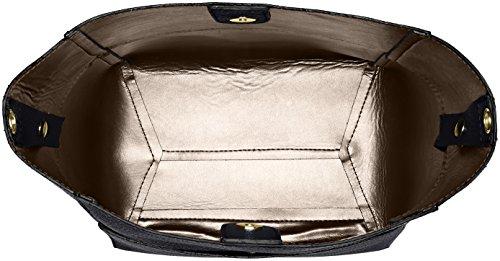 Chicca Borse Damen 8820 Schultertasche, 36x32x16 cm Nero (Nero)