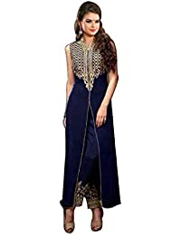 VK Traders Beautiful Salwar Suit For Girls & Women- Made Of Quality Fabric Party Wear Suit For Girls-Semi-stitched-Blue