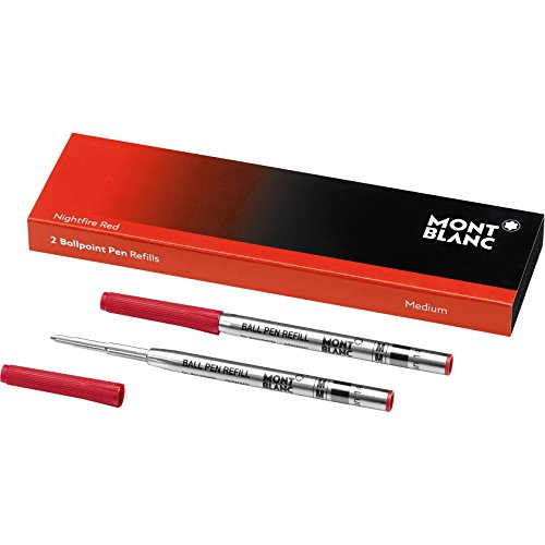 "Montblanc \""Nightfire Red\"" 116215 Kugelschreiber Ersatzminen M – 2 x Kugelschreibermine rot – Ballpoint Pen Refill"