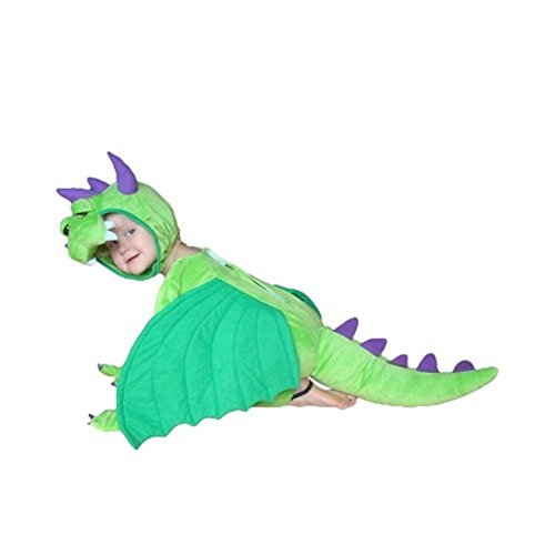 Drachen-Kostüm, SY20 Gr. 92-98, für Klein-Kinder, Babies, Drache Kind Drachen-Kostüme für Fasching Karneval, Kleinkinder-Karnevalskostüme, Kinder-Faschingskostüme, Geburtstags-Geschenk Weihnachts-Geschenk