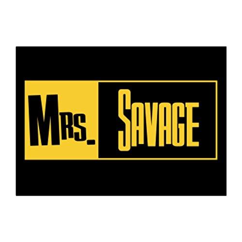 Teeburon Mrs Savage Aufkleber Packung x4 -