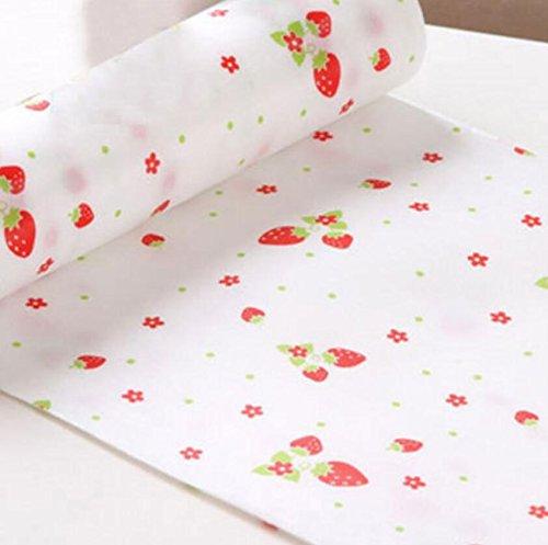 Cgdiaoju mignon Pois étagère Contact papier Cabinet tiroir Liner Tapis de table de cuisine, fraise, 300*30cm