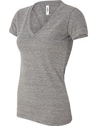 Triblend Bella T-Shirt à col en V profond pour femme