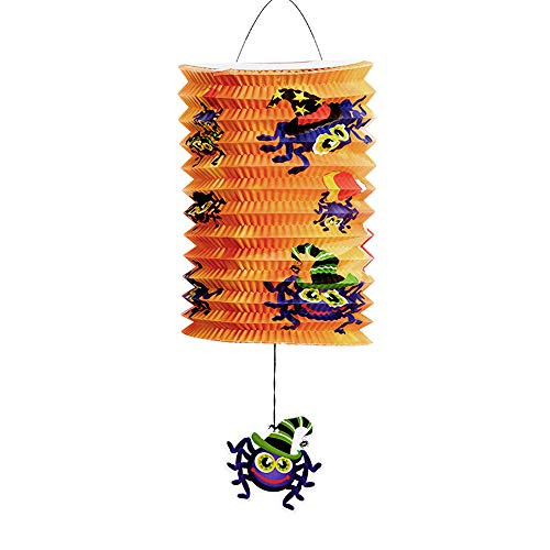 wsjwj Nachtlichter & Schlummerleuchten Halloween-Dekoration stützt das Kürbislaternen-Geistfestival, das Papierlaternen diy bewegliche Beleuchtungsbatterie hängt