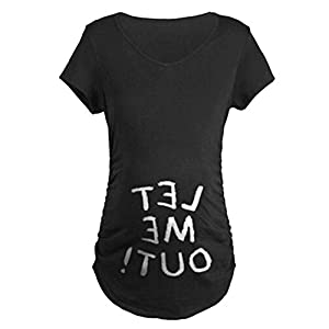 QKIM-Camiseta-de-maternidad-Elasticidad-Suave-Embarazada-Camiseta-Premam-T-shirt-beb-divertido-estampado-para-mujer-Let-me-outNegro-M