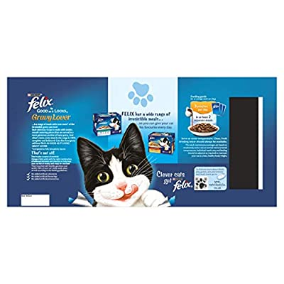Felix As Good As It Looks Cat Pouches Mixed in More Gravy 100g (40 Pouches) by Felix