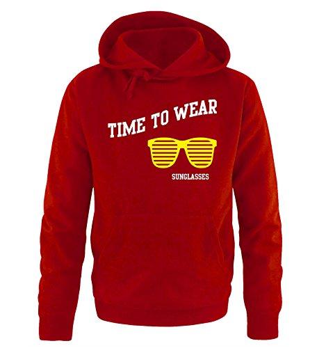 Comedy Shirts -  Felpa con cappuccio  - Maniche lunghe  - Uomo red / white-yellow