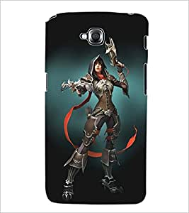 PRINTSWAG WARRIOR GIRL Designer Back Cover Case for LG G PRO LITE