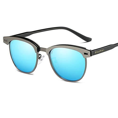 LEIAZ Herren- Und Damensonnenbrille Mit Mattschwarzer Vorderseite Und Polarisierten Gläsern,Black