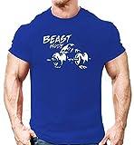 #7: dk Bodybuilding Gym T Shirt, Workout T Shirt (Beast Mode) Design