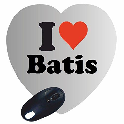 """Preisvergleich Produktbild Exklusive Geschenkidee: Herz Mauspad """"I Love Batis"""" eine tolle Geschenkidee die von Herzen kommt- Rutschfestes Mousepad- Weihnachts Geschenktipp"""